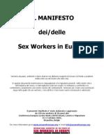 39251004 eBook Ita Il Manifesto Dei Delle Sex Workers in Europa