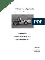 FSAE Australia 2011 Event Report- IIT Roorkee