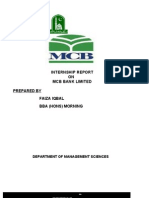 69944023 Internship Report on Mcb Bank New