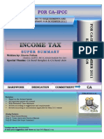 Revision Summary of Income Tax
