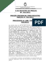 AtaPublicacaoRPnº021.2011-MaterialdeLimpeza