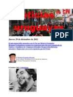 Noticias Uruguayas Jueves 29 de Diciembre de 2011