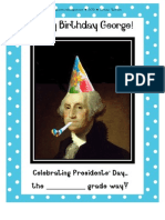 Happy Birthday George!  Presidents' Day Learning Center