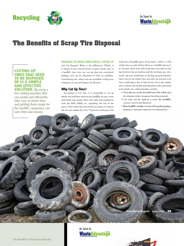 The Benefits of Scrap Tire Disposal | Waste Management | Tire