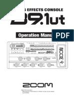 Manual Pedaleira Zoom Baixo B91ut