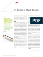 Taking a Proactive Approach to Mitigate Expenses
