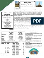 St. Joseph's December 25, 2011 Bulletin