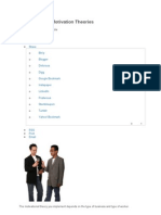 Organizational Motivation Theories