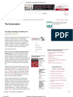 HBR_The State of Strategy Consulting 2011