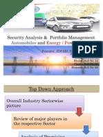 Auto & Power Industries Portfolio Analysis