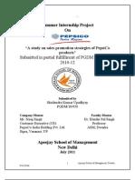 PepsiCo Summer Internship Project