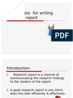 Precautions for Writing Research Report
