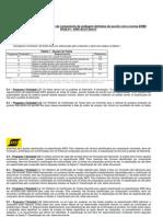 ESAB OK Tipos de Certificados de Qualidade de Consumiveis