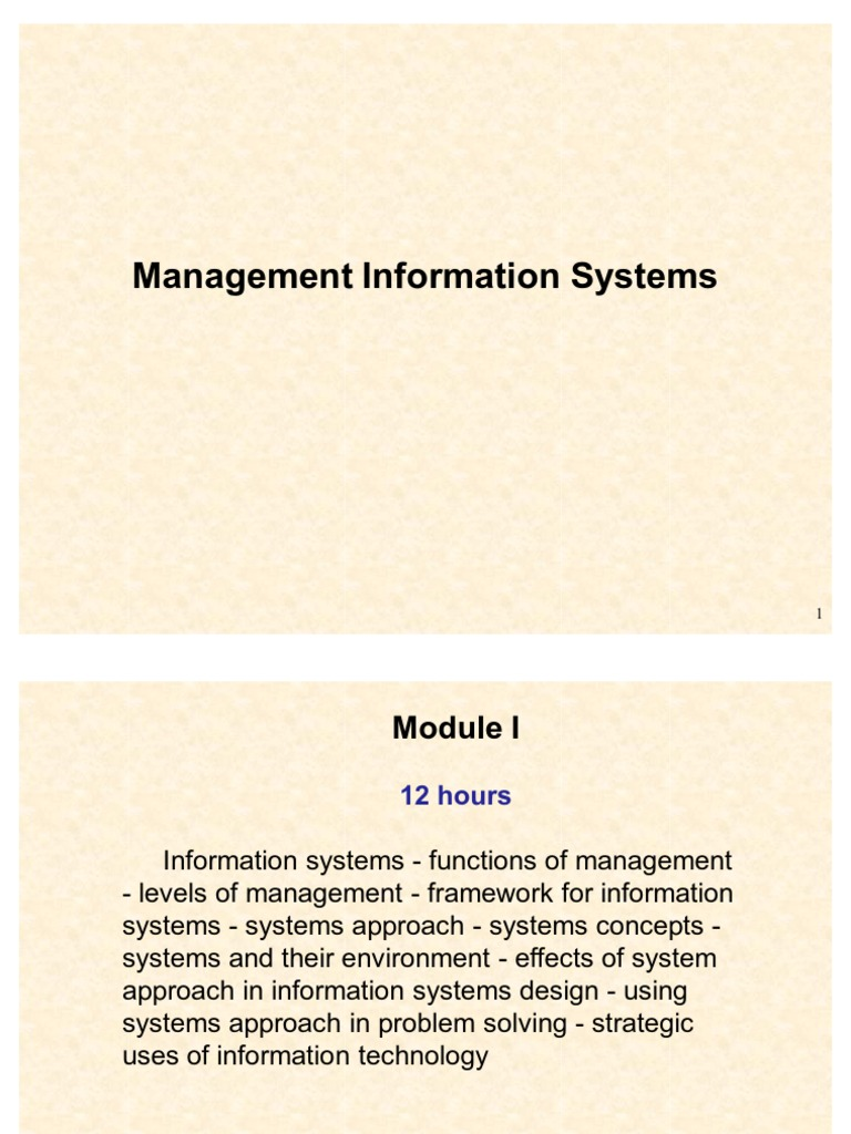 strategic use of information technology in management information system