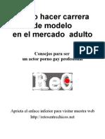 Como Hacer Carrera de Modelo en El Mercado Adulto