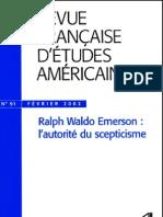 Sandra Laugier (éd.)-Ralph Waldo Emerson, l'autorité du scepticisme