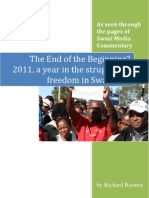 2011. a Year in the Struggle for Freedom in Swaziland - Rooney
