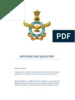 Officers Like Qualities