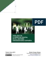 Análisis de la 'brecha digital' en el sistema universitario español