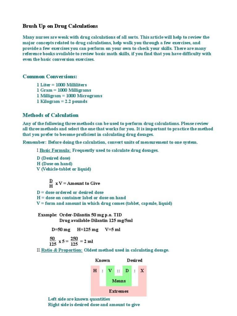 Worksheets Dosage Calculation Worksheets all grade worksheets dosage calculation practice drug calculations dose biochemistry