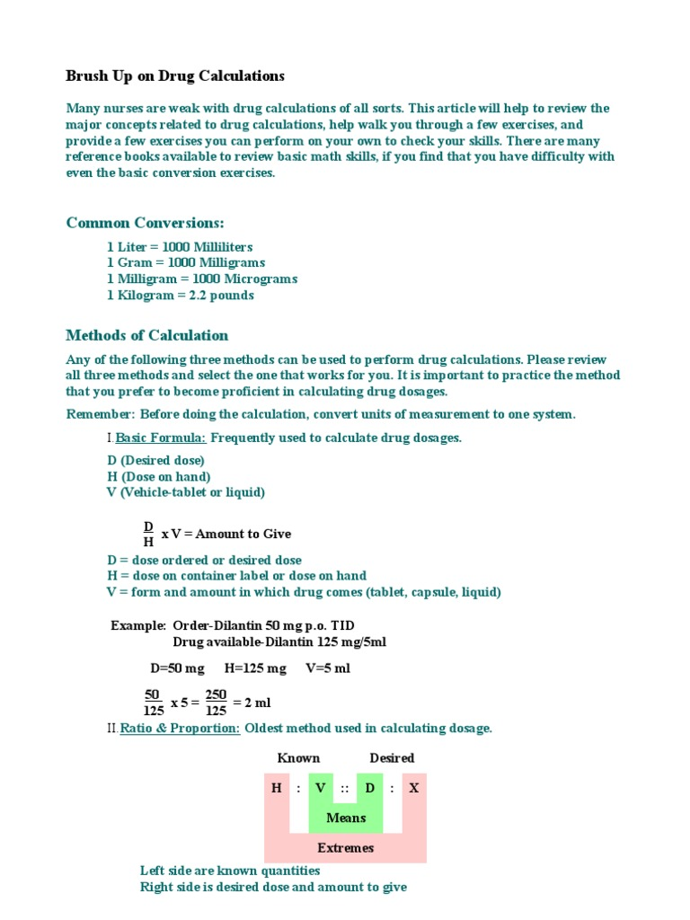 Drug calculations dose biochemistry intravenous therapy robcynllc Choice Image