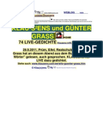 Klausens und Guenter Grass - die Live Gedichte
