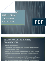 Summary to Industrial Training1