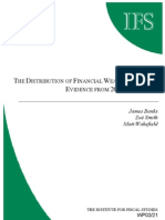 The Distribution of Financial Wealth in the UK 2000 BHPS Data