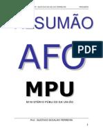 RESUMÃO AFO - MPU