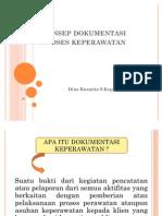 Konsep Dokumentasi Proses Keperawatan