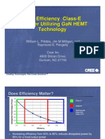 A High Efficiency Class-E Amplifier Utilizing GaN HEMT Technology - Presentation