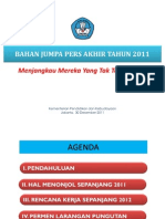 Bahan Jumpa Pers Akhir Tahun 30 Des 2011
