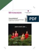 Miteinander Heft 1 (Advent 2008)