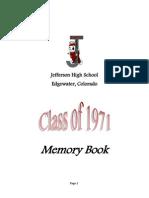 JHS 1971 Memory Book-40th Reunion