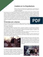 Historia de La Madera en La Arquitectura