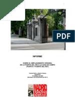 INFORME SOBRE EL EMPLAZAMIENTO ORIGINAL DE LA PUERTA DEL RÍO A LA CASA DE CAMPO (PUERTA Y PUENTE DEL REY)