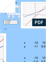 Unit 6 - Simultaneous linear equations - Graphical solution
