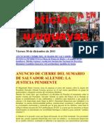 Noticias Uruguayas Viernes 30 de Diciembre de 2011