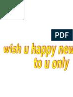 Wish You Happy New Year 2012