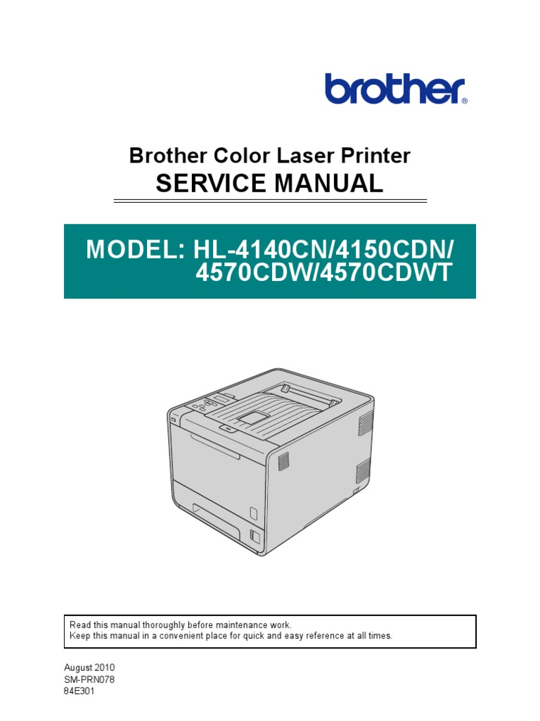 brother sm hl4150cdn hl4570cdw hl4570cdwt electromagnetic rh es scribd com Brother HL 4040Cn Software Brother HL- 4070CDW
