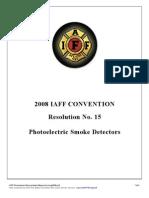 IAFF Resolution Photoelectric Smoke Alarms August 2008