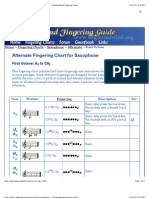 First Octave - Alternate Fingering Chart for Saxophone - The Woodwind Fingering Guide
