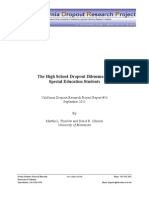 The High School Dropout Dilemma and Special Education Students