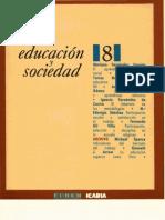 Educación y Sociedad, nº 08, 1991