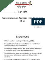 Aadhaar_based_revised_dise by Vijay Kumar Heer