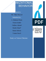 Organizational Behavior Project on Telenor