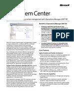 SC OpsMgr2007 R2-Overview