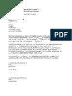 Sample of Bank Comfort Letter