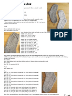 Simple Stockinette Sock Pattern