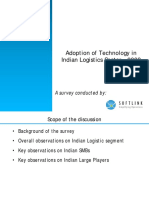Adoption of IT in Indian Logistics 2009